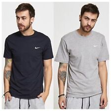 MENS NIKE T-SHIRT CREW NECK EMBROIDERED SWOOCH TICK GYM SPORTS SHORT SLEEVE TOP