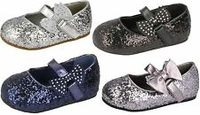 ragazze Spot On Basse party paillettes luccicante DAMIGELLE D'ONORE FIOCCO