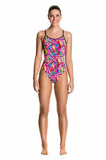 Funkita Crystal Clash Diamond Back One Piece Swimsuit. Funkita Swimwear. Funkita