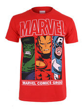 Men's Official Authorised Marvel Comics Heroes T-shirt
