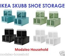 4 x IKEA SKUBB Shoe Storage Boxes With Mesh Front Fits PAX Wardrobe Systems-B787