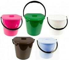 Compost Bucket with Carrying Handle Rubbish Bin Organic Waste Diaper Pail 11L