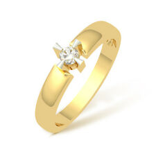 0.11 Cts Corona 18K IGI Certified Diamond  Ring # DIA2144