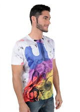 Freecultr Express Multi Colored Printed Round Neck T-Shirt