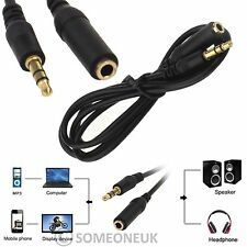 3.5mm Male To Female AUX Audio Extension Cable Lead For MP3 TV DVD Headphone New