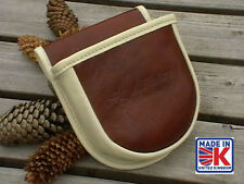 LEATHER SHOOTERS CARTRIDGE BAG POUCH CLAY PIGEON SKEET SHELL SHOOTING SHOTGUN