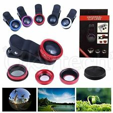 Wide Angle 180° Fish Eye Macro Clip Camera Lens Kit for iPhone  Mobile Phone