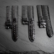 """OMEGA RRP £440 19mm Crocodile Alligator """"31"""" Swiss Watch Strap Band NOS Leather"""