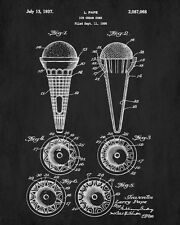 Ice Cream Cones Patent Print Cafe Art Blueprint Art Kitchen Poster Illustration
