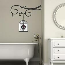 Adesiviamo Branch with birds cage Ramo con Gabbietta Wall Sticker Adesivo da
