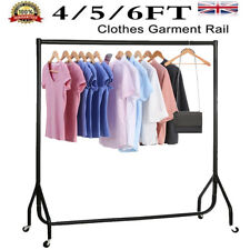 HOME DIY HEAVY DUTY CLOTHES GARMENT RAIL SHOP DRESS DISPLAY STAND RACK ALL METAL