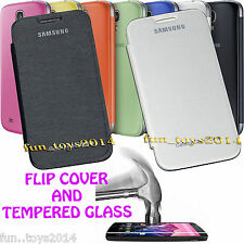 Back Replacement Flip Cover And Tempered Glass For Samsung Galaxy S Duos S7562