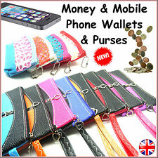 Mobile Phone Coin Wallet Purse Pouch Bag Card Notes Womens Ladies Small Leather