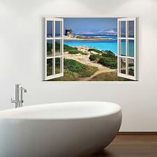 Adesiviamo 3D Window Sardegna Stintino Finestra Tridimensionale Wall Sticker