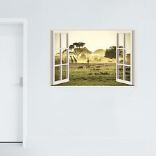 Adesiviamo 3d Window Savana Finestra Tridimensionale Wall Sticker Adesivo da