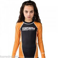 TATAMI KIDS IBJJF RANK ORANGE RASH GUARD : RASHGUARD MMA GRAPPLING  JIU-JITSU