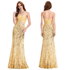 NEW Sexy Sequins Long Formal Prom Wedding Evening Dress Party Pageant Ball Gowns