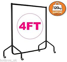 HEAVY DUTY RAIL 120KG 4FT CLOTHES DRESS GARMENT HANGING DISPLAY STAND RACK