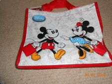 WALT DISNEY MICKEY MOUSE AND MINNIE MOUSE SMALL SHOPPING BAG NEW