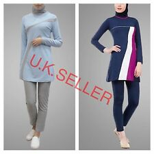 islamic swimwear full cover swimming costume modest burkini girls womens 2 piece