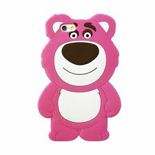 3D LOTSO STRAWBERRY PINK BEAR SILICONE CASE COVER FOR IPHONE 6S 6 PLUS SE 5S 5