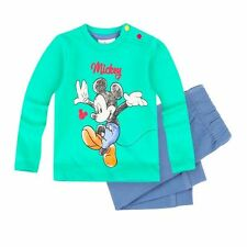 Disney Mickey Set, Hose + Shirt, grün-blau, Gr. 62-92