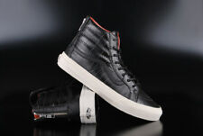 VANS SK8-HI SLIM ZIP CROC LEATHER BLACK HIGH TOP SNEAKER SCHUHE
