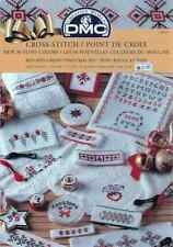 DMC Cross Stitch chart booklet Noel Christmas Red and White NWOT