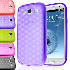 SOFT TPU GEL BUBBLE TRANSPARENT BACK CASE COVER FOR SAMSUNG GALAXY S3 III