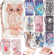 Phone Protective Flip Case for Samsung iPhone PU Leather Diamond Patterns Cover