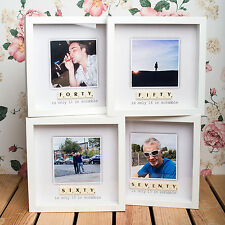 PERSONALISED BIRTHDAY SCRABBLE PHOTO FRAME - 30th,40th,50th,60th & 70th BIRTHDAY