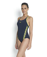 Speedo Monogram Muscleback Swimsuit.Ladies Girls Swimwear.Speedo Navy Swimsuits
