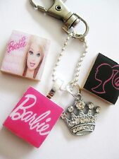 Barbie Keyring Crystal Crown Barbie Gift Handmade Uk Pink Barbie Keyring