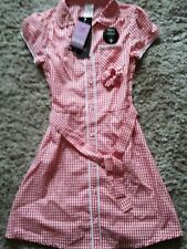 BNWT's Girls Red Gingham School Summer Dress, Age 6-7 years. RRP £6 from F&F