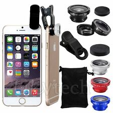Fish Eye + Wide Angle + Macro Lens Camera Clip For iPhone 5S 6S Samsung S6 Edge