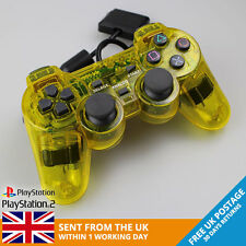 New Crystal Yellow Sony PlayStation 2 Controller - PS2/PSone - FREE UK POSTAGE