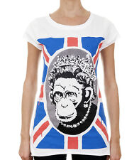 BANKSY / Monkey Queen Womens White T-Shirt