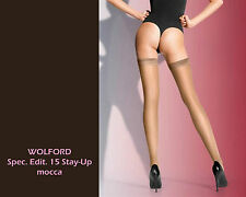 WOLFORD Spez. Edit. 15 STAY UP • XS-L • mocca • hochtransparente STAYUP´s