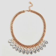 Ted Baker Emari Pear Drop Necklace, Rose Gold