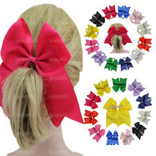 12pcs Girls Women Beatuiful 7'' Big Hair Bows Grosgrain Ribbon Hair Accessories