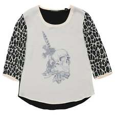 Maison Scotch Woven Top With Printed Skull