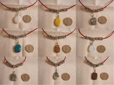 Natural Healing Stone Necklace, Unique Handmade Jewellery Luck, Love Stone Charm