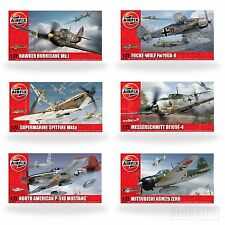 Airfix 1:72 Model Kits WW2 Aircraft Spitfire Hurricane Messerschmitt Focke Plane