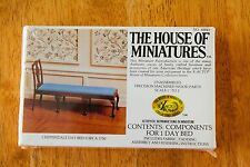 Vintage 70s House of Miniatures Doll Furniture New, NIB #40043 CHIPPENDALE Bed