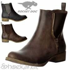 Womens Rocket Dog Camilla Chelsea Ankle Boot Black Brown Whiskey Size 4 5 6 7 8