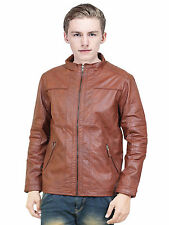 Branded U.S.Polo Export Surplus Stylish Regular Fit Brown Faux Leather Jacket