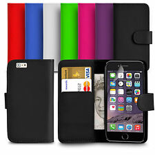 For Apple iPhone 6 / 6S 4.7'' PU Leather Wallet Case Cover With Screen Protector