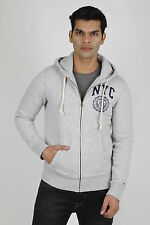 Mens Gray Hoodies Jacket New fashion Grey Zipper With Cap TH NYC Branded Surplus