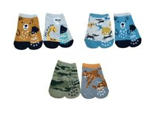 New Baby Boy ABS Antislip Non Slip Cotton Socks 2 Pairs Size 3 months to 4 years