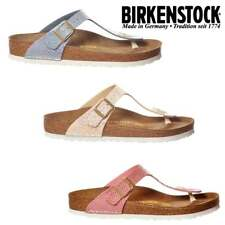 Ladies Girls Birkenstock Gizeh Shiney Snake BirkoFlor Standard Fit Flip Flop New